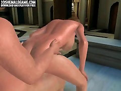 Hot 3D passiy show brunette shemale babe getting fucked