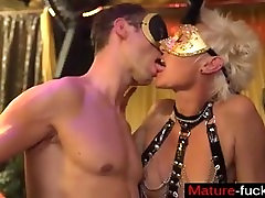 I met her on MATURE-FUCKS.COM - MAGMA FILM German Masquerade Swingers Party