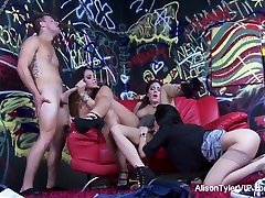 Alison Tyler shares a cock with Dava Fox & Jessica Jaymes