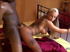 Big Black 26cm Dick Fuck German Teen Deep in Her Asshole