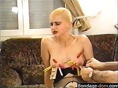 Find her on BONDAGE-DOM.COM - LUE retro 90s german classic vintage do