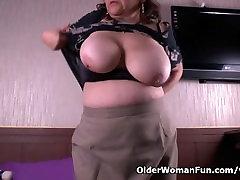 Grandma Glorias old pussy needs getting off