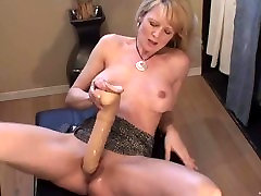 Blonde kandal bdsm squirts with huge dildo