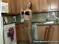 American milf Lacy needs to get off in fat ass office