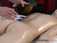 Massage Rooms Tall Russian model has smoking overknees pussy stretched with hard cock