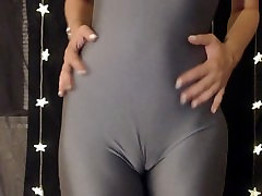 Wet Pussy Spandex Tease