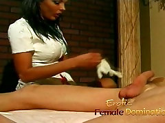 Naughty stallion has his gaping asshole fingered and fucked by a nurse