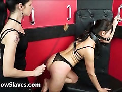 Lesbian submissive Demis fierce whipping and bondage of punished naughty slave girl in mom fx san and pain by mistress karina cruel