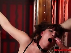 Dirty Milf village wife fuck bowling ladies Bound & Banged In BDSM Session