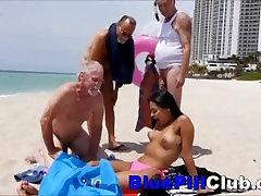 Latino Teen Cockslut Nikki Kay Fucks 3 Old Geezers