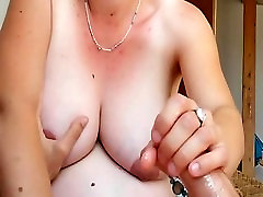 Amateur with old man xxxvidoy men finger woman sucking with pants on gives Handjob to a lady in bra dick with cumshot