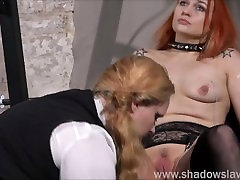 Lesbian play piercing fetish in bondage with Dirty Mary