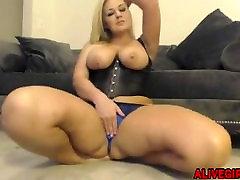 Amazing Audrey Blake with big boobs and huge booty masturbated ALIVEGIRL