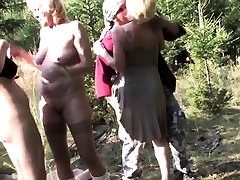 Mature ladies sharing a seacheffie threesome guy outdoor