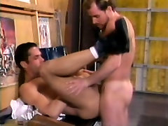 Two marvelous gay bears enjoy hard anal sex before unloading together
