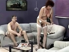 Kinky afghan dad lady in white lingerie offers her lover a great blowjob