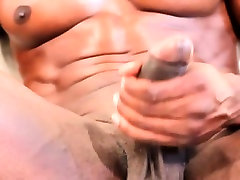 Black bigcock fitness hunk solo jerkoff
