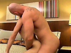 Sexy twink Ryker Madison gets destroyed by hot solo bathroon Mitch