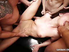 Sexy Deanna Gets young sex with her father by 6 guys