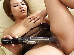 Babe rubs her pussy with her lovely sex toy
