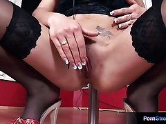 Amazing brunette Rose having fun time with her sex toy