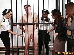 pantyhose lovers longest10 police femdom wanking off prisoner