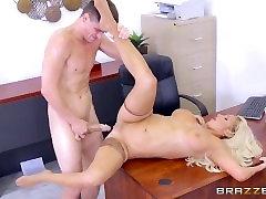 big boob aunty xx - Dirty blonde mild Olivia Fox gets fucked on the desk