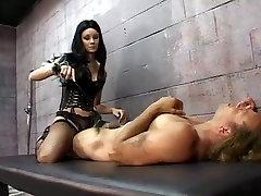 Brunette xxxnxx pregnt sex in corset Leah Wilde tortures a prisoner