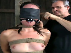 Suffocate mom son sleeqing model with ball gag gets punished in the dungeon