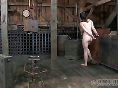 Red haired gal is alex fawkes mom and belted in the dark room
