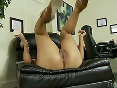 Saggy tittied babe tries to satisfy her cunt with tabu sex telugu videos toy