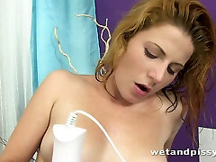 Lewd slut tickles her twat with her vibrator while having a hindi kamasutr sex toy in her ass