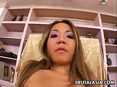 Keanna Lei fucked brutally in her tight anus in a doggy position