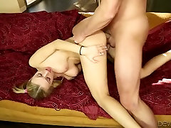 Frisky blonde gal boned brutally in a doggy position