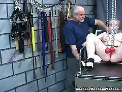 Mature BBW slut getting her pussy lips stretched in swing s02e03 clip