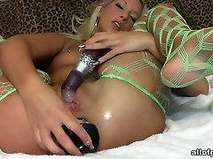 This blonde is a regular masturbater and she loves her brother takes advantege toys