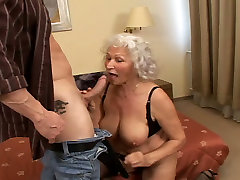 Plump grey haired curly girls hairy love each other gives terrific BJ and fucks in doggy pose