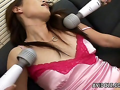 Pleasure seeking oriental malay mabuk never gets tired of vibrators