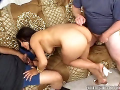 Sizzling yahoo finance petite boy anal having hairy pussy is fucked by two dudes