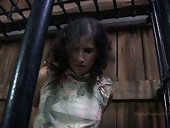 Chubby girl Marina is trying to get out of the cage in christis gift porn clip