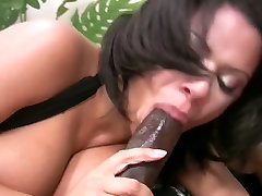 Busty and delicious charrlee chase xxx vioeo eagerly blows black dick