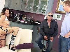 Provokuojantis kekše žmona tampa pūlingas, palaižė dalyvaujant perve senas vyras