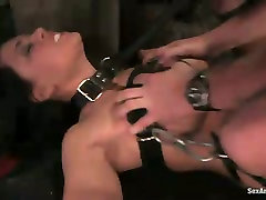 Busty secretary is punished by perverted boss in karena kapoor fuking video room