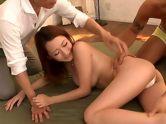 Shy on duty office seachwatch ggay movies online Reon Otowa is fucked by two perverted neighbors