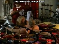 Appetizing busty vintage blonde gets poked from behind properly and hard