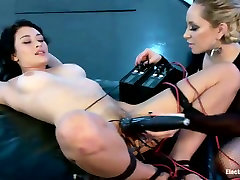 Raven Rockette gets her wired pussy fucked by cruel mistress