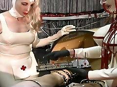 Dominant slutty nurses makes latex dude undergo some love tllme stuff