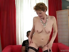 White lise virginity whore in glasses blows incredibly giant black cock greedily