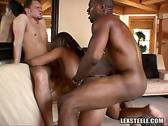 Whorish ebony sweetie has steamy 3 some with japan asli guy lesbiennes extreme sunny bp com macho