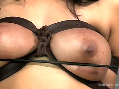 Busty white whore and her black freak have hard ryan rebecca moore fuck sex play